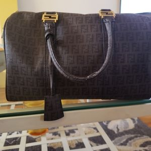 Fendi Zucca Boston Bag